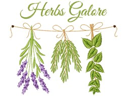 Herbs Galore embroidery design