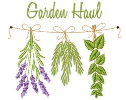 Garden Haul embroidery design