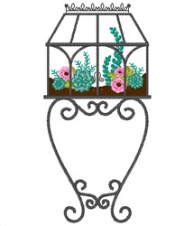 Terrarium embroidery design