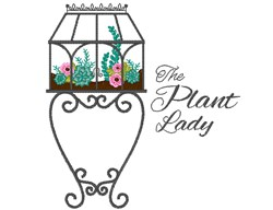 The Plant Lady embroidery design