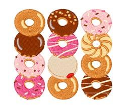 Dozen Donuts embroidery design