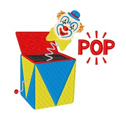 Jack-in-the-box  Pop embroidery design