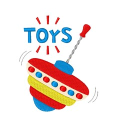 Spinning Toy embroidery design