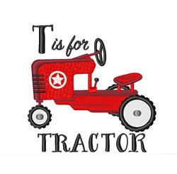 T For Tractor embroidery design