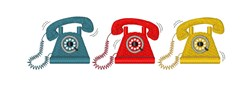 Telephones embroidery design