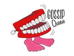 Gossip Queen embroidery design