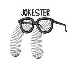 Jokester embroidery design