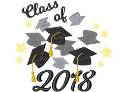 Class Of 2018 embroidery design