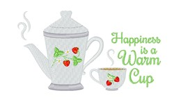 A Warm Cup embroidery design