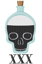 XXX Bottle embroidery design
