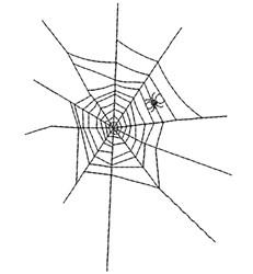 Halloween Spider Web embroidery design
