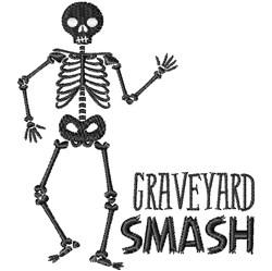 Graveyard Smash embroidery design