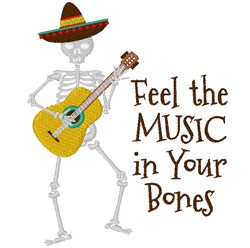 Music In Your Bonesq embroidery design