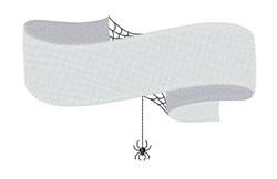 Spider Web Banner embroidery design