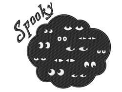 Spooky Eyes embroidery design