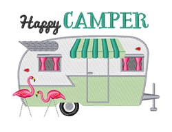 Happy Camper embroidery design