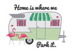 Where We Park it embroidery design