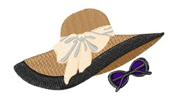 Summer Hat embroidery design