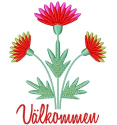 Valkommen embroidery design