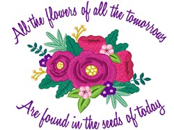 Flowers Of Tomorrow embroidery design