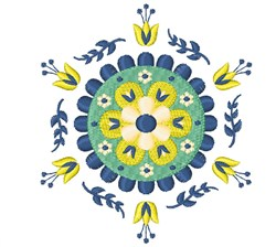 Floral Mandala embroidery design