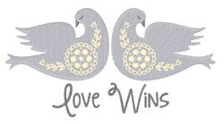 Love Wins embroidery design