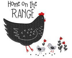 Home On The Range embroidery design