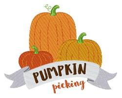Pumpkin Picking embroidery design