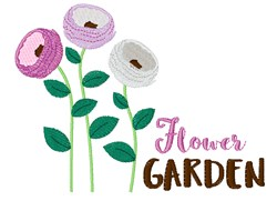 Flower Garden embroidery design