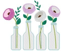 Flower Bottles embroidery design