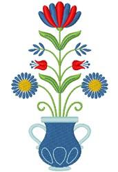 Folk Art Bouquet embroidery design