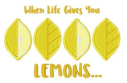 Life Gives You Lemons embroidery design