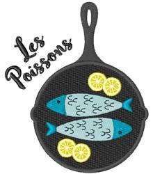 Les Poisson embroidery design