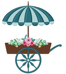 Flower Cart embroidery design