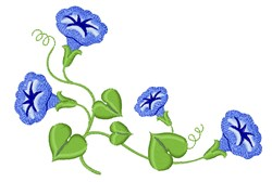 Morning Glory Flowers embroidery design