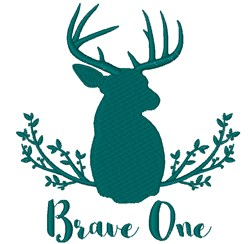 Brave One embroidery design