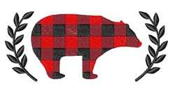 Plaid Bear embroidery design