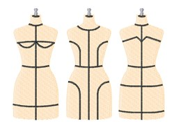 Dress Forms embroidery design