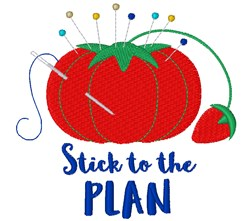 Stick To The Plan embroidery design