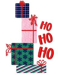 Ho Ho Ho Gifts embroidery design