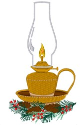 Christmas Lantern embroidery design