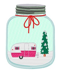 Christmas Mason Jar embroidery design