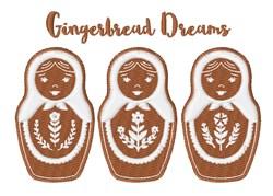 Gingerbread Dreams embroidery design