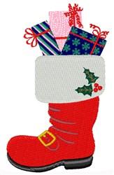 Santa Boot embroidery design
