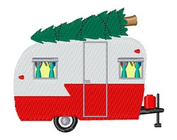 Holiday Camper embroidery design