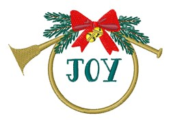 Joy French Horn embroidery design