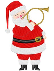 Santa & French Horn embroidery design