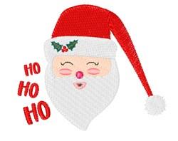 Ho Ho Ho Santa embroidery design