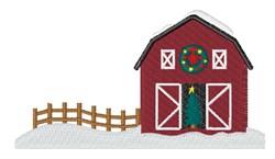 Christmas Barn embroidery design
