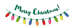 Merry Christmas Lights embroidery design